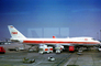 N93108, Trans World Airlines, TWA, Boeing 747-131, 747-100 series, Esso Fuel Trucks, Forte Airports Group, Ground Equipment, October 1970, 1970's, JT9D-7A, JT9D