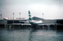 Boeing 747, Cathay Pacific, wet, rainy, rain, CKS Airport, April 4 1982, 1980's