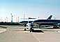 Jets lined up for take-off, American Airlines AAL, Douglas DC-10, MD-80, December 2, 1986, TAFV05P12_06
