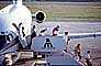 Mobile Stairs, Rampstairs, ramp, Boeing 727, Mexicana Airlines, Cancun, Disembarking Passengers, steps, pickup truck, TAFV05P14_08