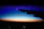 Boeing 747, Twilight, Dusk, Dawn, Lone Wing in Flight
