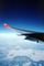 Airbus A340, Northwest Airlines NWA, Wing in Flight