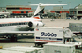 N974DL, Delta Air Lines, Douglas DC-9, Dobbs Catering Truck, jetway, Airbridge