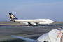 Boeing 747-412, 9V-SPE, Singapore Airlines SIA, San Francisco International Airport (SFO), 747-400 series, PW4056, PW4000, TAFV16P11_12