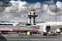 American Airlines AAL, Control Tower, N7518A, McDonnell Douglas, MD-82, Jetway, Airbridge, JT8D, TAFV18P07_12