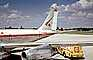N373WA, World Airways WOA, Boeing 707C, Shell Refueling Truck, Ground Equipment, 1960's, TAFV23P08_05
