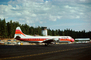 N6130A, PSA, Lockheed L-188A Electra, Toto, Control Tower, Lake Tahoe Airport TVL, TAFV25P07_14