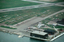 Hangar, Runway, buildings, seaplane ramp, control tower