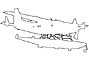 N80RD, Cessna 208 outline, line drawing, shape, TAGV06P09_07O