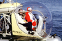 Santa Claus Delivering Presents, N9763Z, Bell 47G-2, pontoons, floats, San Pedro, 1978, 1970's, TAHV04P06_13B