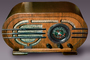 Silver Radio, art deco, Antique, 1940's