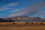 Ivanpah Solar Electric Generating System, facility, Boiler Towers, surrounded by sun-tracking mirrors, San Bernardino County, California, Mojave Desert, 2016, TPSD01_005