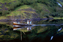 Small fishing trawler on a calm reflective Fjord, Paintography, TSFV02P11_10C
