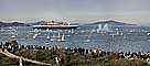 Queen Mary 2 enters San Francisco Bay, IMO: 9241061, Ocean Liner, Cunard Line, Steamship, TSPD01_132