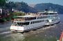 Neckar River, Heidelberg, Excursion ship name Rhein, 1950's