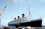Queen Mary, Ocean Liner, Cunard Line, Flags, windy, Cruiseliner, 1971, 1970's, TSPV05P15_06