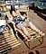 Lounge Chairs, Woman, Relaxing, Sleeping, Napping, Deck