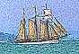 Three Masted Tall Ship Digital Painting