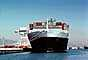 Container Ship, Dock, Harbor, head-on, TSWV03P10_14B