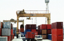 Shipping Containers on Dock, Gantry Crane, Dock, Malaysia, TSWV04P02_08