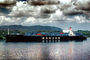 Hanjin Line, Gatun Lake, Dramatic Clouds, TSWV08P14_19B