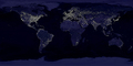The Whole Earth at Night, nighttime, city lights, World Map