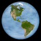the Americas, the Western Hemisphere, North America, South America, land masses, globe, ball, sphere, UPED01_012