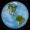North America, South America, the Americas, artistic Earth globe, land masses, UPED01_014