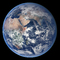 Blue Marble Earth, globe, Africa, clouds, oceans
