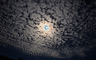 Moon in the night with Alto Cumulus Clouds, Halo, UPFD01_030