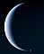Crescent Neptune with moon, UPNV01P01_05