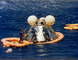 24 July 1975, Apollo Command Module splashdown, Central Pacific Ocean, USLD01_003