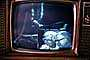 Television Screen, Live from the Moon, Walking on the Moon, Moonwalk, Walk, 1960's, USLV01P08_11