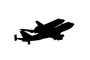 silhouette, shape, logo, Space Shuttle Endeavor, Shuttle Carrier Aircraft (SCA), Space Shuttle Ferry, NASA Space Shuttle Carrier, Boeing 747-100, USRD01_004M