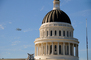 Last flight of the Space Shuttle over the State Capitol Dome, State Capitol building, Sacramento, USRD01_007
