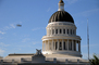 Last flight of the Space Shuttle over the State Capitol, State Capitol building, Sacramento, USRD01_008