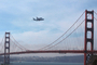 Last flight of the Space Shuttle over the Golden Gate Bridge, Shuttle Carrier Aircraft (SCA), Space Shuttle Ferry, NASA Space Shuttle Carrier, Boeing 747-100, USRD01_023
