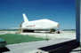 1976, Space Shuttle full-size mock-up, Kennedy Space Center, Florida, 1970's, USRV01P05_06