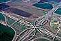 Four-way Interchange, Stack Interchange, overpass, underpass, freeway, highway
