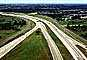 Highway 121, freeway, cars, Level-A traffic, offramp, onramp, curve, VARV02P14_02