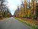 Road, Roadway, Fall Colors, Autumn, Deciduous Trees, Woodland, Whitefish Bay, Michigan, VCRD01_112