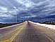 Mean Clouds, Road, Roadway, Pavement, Exterior, Outdoors, Outside, southwest of Houston, Texas, VCRD01_184