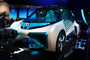 Mirai Toyota FCV (Fuel Cell Vehicle) concept car, CES Convention 2016, Consumer Electronics Show, tradeshow, VCRD04_009