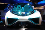 Mirai Toyota FCV (Fuel Cell Vehicle) concept car, CES Convention 2016, Consumer Electronics Show, tradeshow, VCRD04_010