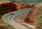 Car Driving on a Lonsome Highway near Vermilion Cliffs Arizona, Road, Roadway, Highway, VCRV11P01_08B