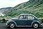 Volkswagen Bug, Beetle, automobile, PCH, near Fort Bragg, Mendocino County, VCRV19P09_14