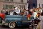 Women crowded into a car, 1952 Buick Super, car, automobile, whitewall tires, 1950's