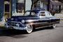 1953 Cadillac Series 62, two-door coupe, whitewall tires, Dagmar Bumps, 1950's