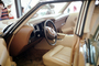 Interior of a Car, Drivers side, steering wheel, May 1972, 1970's