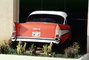 1957 Chevrolet Bel Air, fins, car, taillight, rear, tail light, back end, 1950's